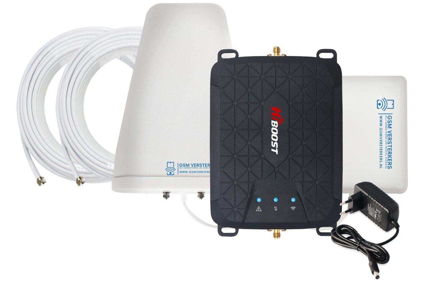 Hiboost Hi13-5s complete set met 2G,3G en 4G bij gsmversterkers.nl